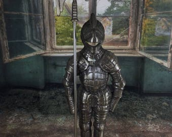 Truly unusual funnel shaped statue style medieval armor Knight