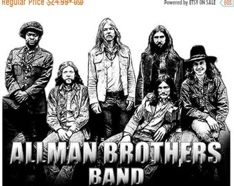 40% OFF SALE Allman Brothers Band Drawing T shirt