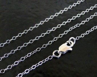15 Inch .925 Sterling Silver Cable Chain Necklace - Custom Lengths Available