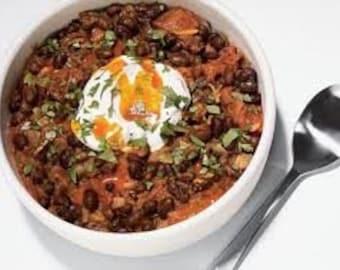 Flocons Black Bean Chili Chili-Mix Mix, mélange d'assaisonnement, toutes naturelles, herbes et épices, sel de plomb, haricots noirs, oignon, poudre de piment, cumin...