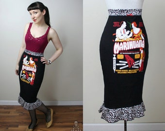 retro pulp novel Marihuana pencil skirt - smarmyclothes rockabilly pinup