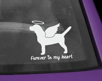 Beagle Furever In My Heart Vinyl Sticker
