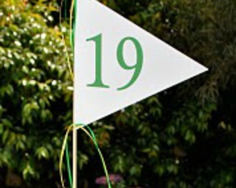 Golf Flag for the 19th Hole Centerpiece