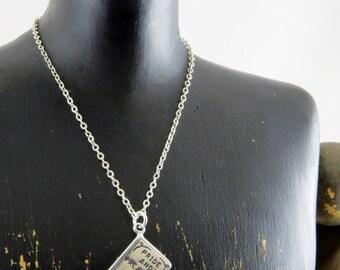Sterling silver Jane Austen necklace, Pride and Prejudice necklace, Book necklace, avid reader gift, librarian necklace, English lit major