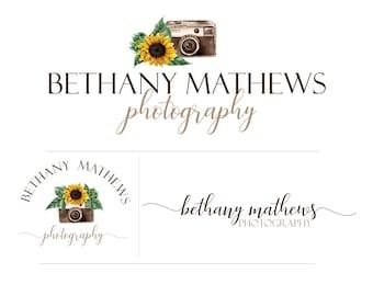 Summer Sunflower Photography Logo Branding Kit Package - design no. 188