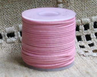 2mm Cotton Cord Pink Waxed 100 Meter - Many Colors