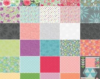 Meadow Dance 10-Inch Squares Layer Cake, 42 Pieces, Amanda Murphy, Contempo Studio, Precut Fabric, Quilt Fabric, Cotton Fabric, Floral