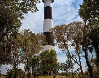 Lighthouse Travel Destination Cape Canaveral Florida - Fine Art Photograph Print Picture