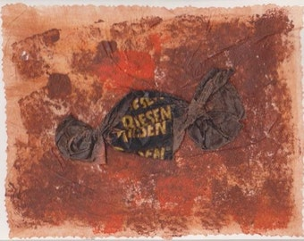 Handmade Blank Greeting Card made from Litter: Riesen Candy Wrapper
