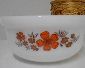 "Vintage Agee Crown Pyrex ""Geraldton Wax"" Tub Casserole 1970s"