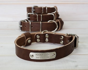 Dog Collar, Leather Dog Collar, Dog Collar Leather, Brown Leather Collar, Dog Collar Personalized, Dog Lover Gift, Dog Gift, Collar in Brown