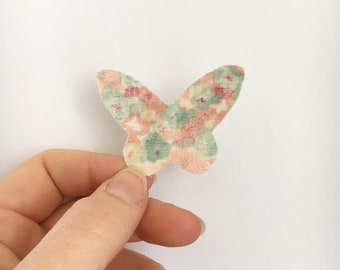 Summer in the countryside barrette Butterfly hair clip baby child white leaves elastic nylon headband