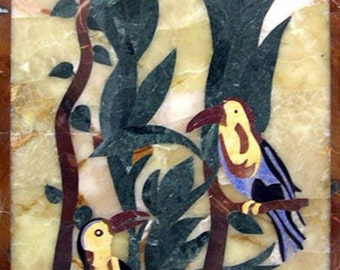Mosaic Wall Art - Pietradura Birds