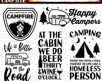 Camping Svg Bundle Set 1 SVG Files - Camping Svg Files for Cricut Camp Svg Files for Silhouette Campers SVG Bundle Commercial Use - 515