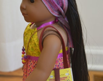"The Curious Little Kitten Book Purse for 18"" play dolls such as American Girl® Dolls"