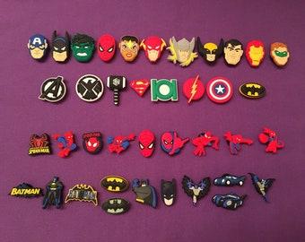 Shoe Charms for Crocs, Silicone Bracelet Charms, Party Favors, Jibbitz - Avengers, Superheroes, Batman, Spiderman / Avengers Keychains