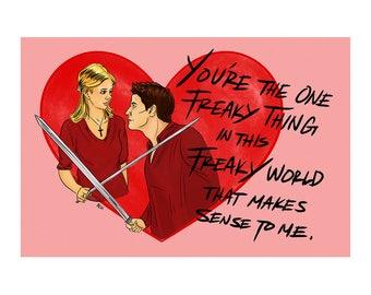 Buffy & Angel Valentine's Day Card / BTVS / Buffy Postcards 5 pack