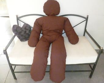 The pillow friend man giant chocolate color