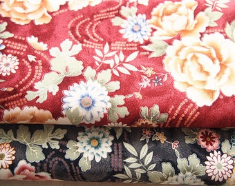 Japanese fabric and cotton red fonce110 Peony * 50