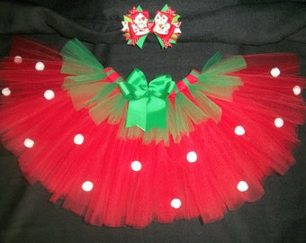 Strawberry tutu set, custom made up to a size 4t