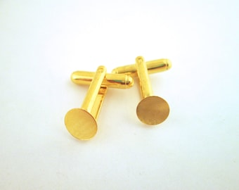 8mm gold tone cufflinks, pick your amount, D25