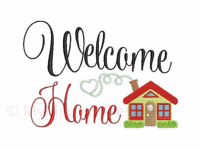 Home embroidery - Welcome embroidery design - Kitchen design ...