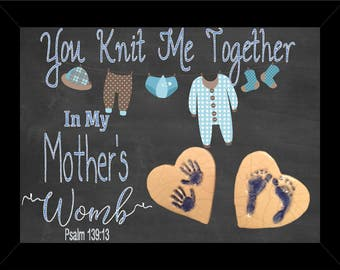 You knit me together in mother's womb. Psalm 139:13 Shadow Box