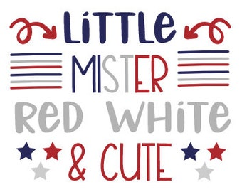 Little Mister Red White and Cute Onesie