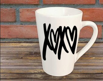 XOXO Love Valentines Mug Coffee Cup Gift Home Decor Kitchen Bar Gift for Her Him Jenuine Crafts