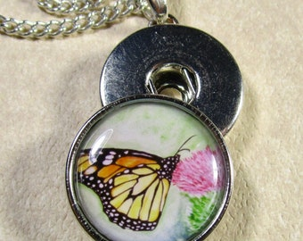 Butterfly Snap Charm, Butterfly Button Charm, Butterfly Jewelry, Butterfly Snap Jewelry, Butterfly Gift, Monarch Jewelry, Monarch Charm