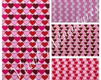 "Valentine's Day Vinyl, Heart Pattern Vinyl, Permanent Adhesive, 12""x12"", Oracal 651, Patterned Vinyl, Printed Vinyl, Craft Vinyl"