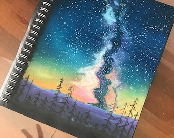 Milky Way Pastel Drawing