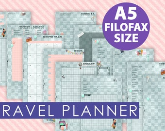 Travel planner for your filofax A5
