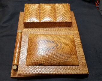 Art Deco Snakeskin Desk Companion