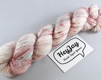 Hand Dyed Sparkle Sock Yarn - Hey Specks