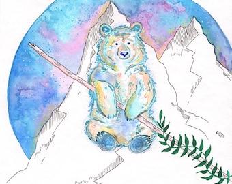 "Signed art print ""The third bear"""