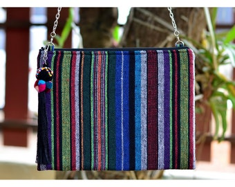 Bohemian / Ipad mini cases / Handbags / Purses / Messenger Bags / Anniversary Gifts / Christmas Gift Ideas / Blue / Stripe