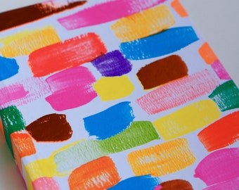 Positano Book- White Background with Bright Mutlicolored Swatches