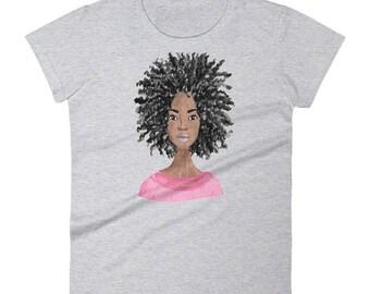 Natural Beauty Tshirt - Afro Tshirt - Pretty Afro Tshirt