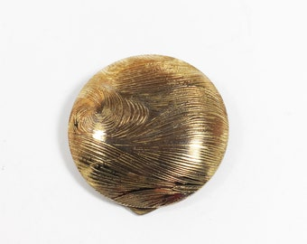 Round Brushed Gold Tone Dress Clip Button Style Accessory