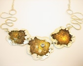 Starburst Necklace Topaz Silver
