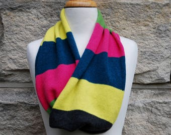 Handcrafted cowl in superfine merino blend