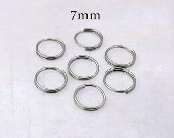 200 x Stainless Steel 7mm Split Rings - Double Loop Jump Rings