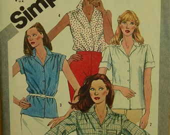 1980s Shirt Set  Simplicity Pattern 5172 Uncut Sizes  18-20   Bust 40 to 42""