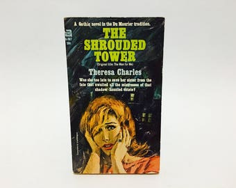 Vintage Gothic Romance Book The Shrouded Tower by Theresa Charles 1965 Paperback