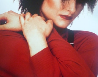 Siouxsie Sioux (and the Banshees) NYC, 1980 - Mounted Photo Poster (28 x 21 cm)