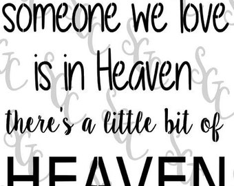 Reusable Stencil - Heaven in our Home - 2 sizes to choose from!