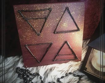 Wood Mural | Elements * Magic * Wicca * Witch * Occult * Pagan