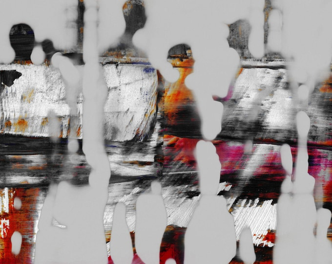 SAIGON BLUR XXXIX - Mixed Media Art by Sven Pfrommer - Artwork is ready to hang