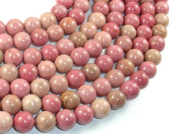 Rhodonite Beads, 10mm (10.7mm) Round Beads, 15 Inch, Full strand, Approx 36 beads, Hole 1mm (386054011)